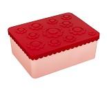 Rød / rosa matboks med tre rom fra Blafre