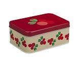 Tyttebær, rød matboks i metall fra Blafre