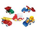 Lekebiler til sandkassen, 5 valg