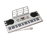 Stort keyboard med mikrofon