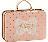 Rosa koffert i metall til dukker, 11 cm - Maileg