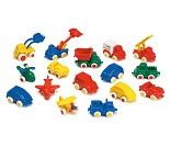 Små lekebiler til sandkassen, 16 valg