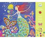 Mosaikksett med glitrende havfruer - Djeco