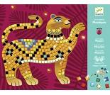 Mosaikksett med metalliske jungeldyr - Djeco