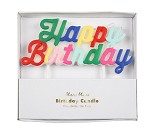 Happy birthday, fargerikt kakelys fra Meri Meri