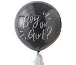 Ballong med konfetti, avslør kjønnet på babyen