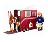 Stor hestetrailer, dukketilbehør - Our Generation