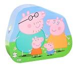 Peppa Gris og familien, puslespill - 24 brikker