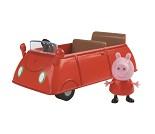 Peppa Gris, rød bil og figur