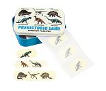 Plaster med dinosaur i fin metallboks