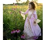 Prinsessekjole med kappe og tiara, 5-6 år, kostyme