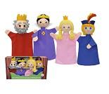Kongefamilie, sett med 4 hånddukker