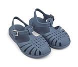 Blå sandaler i gummi, str 23 - Liewood