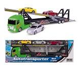 Transportlastebil med tre biler