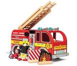 Brannbil i tre fra Le Toy Van