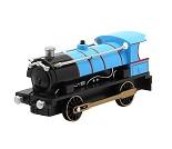Blått lokomotiv med lyd