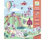 Klistremerkebok med motiver fra tivoli fra Djeco
