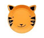 Tiger papptallerkener,12 stk - Meri Meri
