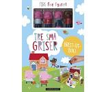 Tre små griser, brett-ut barnebok med figurer