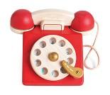 Gammeldags telefon i tre fra Le Toy Van