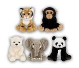 Ville dyr, kosedyr 14 cm, 5 valg - WWF