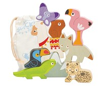 Stableleke med ville dyr i tre - Le Toy Van