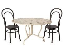 Spisebord og stoler, dukkehustilbehør - Maileg