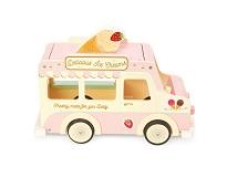 Iskrembil i tre, dukkehustilbehør - Le Toy Van