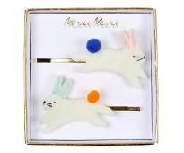 Hårspenner med påskeharer, 2 stk fra Meri Meri