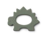 Grønn bitering i silikon med dinosaur - Liewood