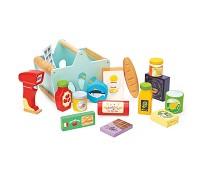 Handlekurv med varer og skanner i tre - Le Toy Van