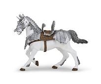 Hest med rustning miniatyrfigur - Papo