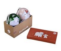 Julekuler med isbjørn og kanin, 2 stk - Blafre