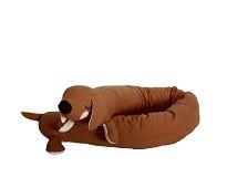 Sengekant, brun Lazy Long Dog - Roommate