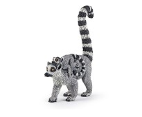 Lemur med baby miniatyrfigur - Papo