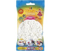 Midi perler hvite, 1000 stk - Hama