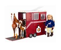 Stor hestehenger, dukketilbehør - Our Generation