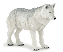 Arktisk ulv miniatyrfigur - Papo