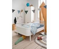 Hvit seng til junior og voksen - Sebra