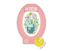 Stor tatovering med havfrue - Djeco