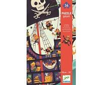Stort puslespill med sjørøverskip - Djeco