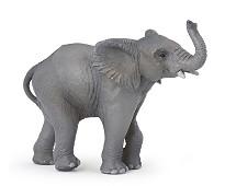 Ung elefant miniatyrfigur - Papo