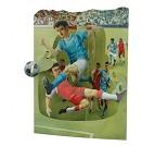 3D-postkort med fotballspillere