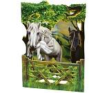 3D-postkort med hester