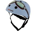 Sykkelhjelm, blå kjørebriller, XS (44-48 cm)