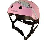 Sykkelhjelm, rosa kjørebriller, XS (44-48 cm)
