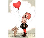 Hjerteballong, postkort