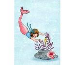 Havfrue, postkort