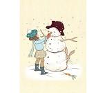 Snømann, postkort