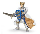 Blå Kong Arthur miniatyrfigur - Papo
